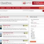 ClassiPress refine search page